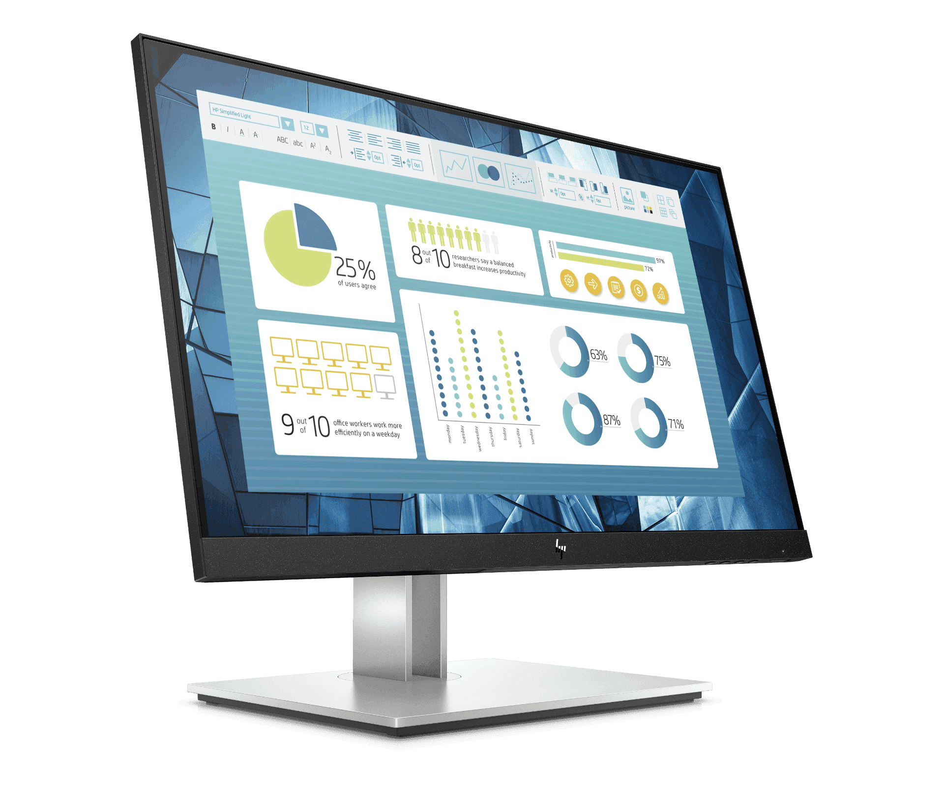 Màn hình máy tính HP E22 21.5-inch G4 FHD Monitor (9VH72AA)